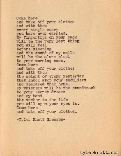 Short sexy love poems