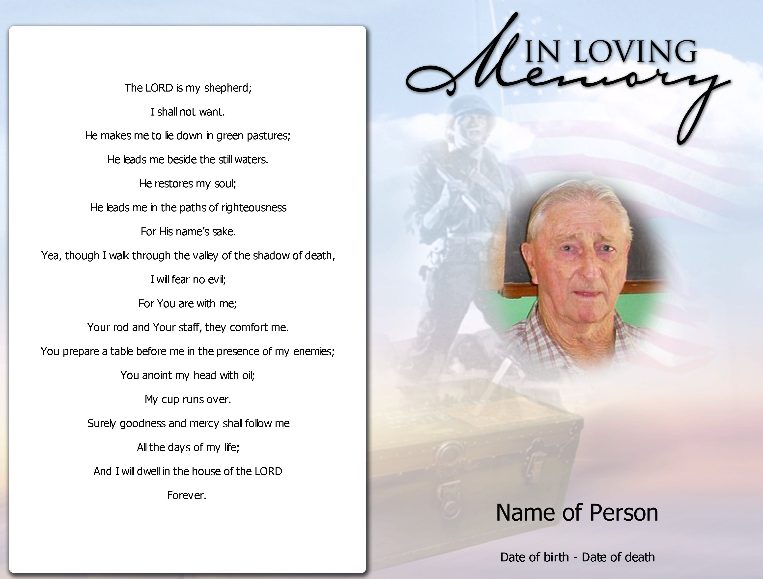 Sample obituary Poems Intended For Death Anniversary Cards Templates
