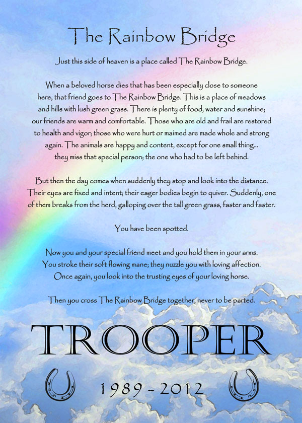 It's just an image of Rainbow Bridge Printable intended for grief prayer