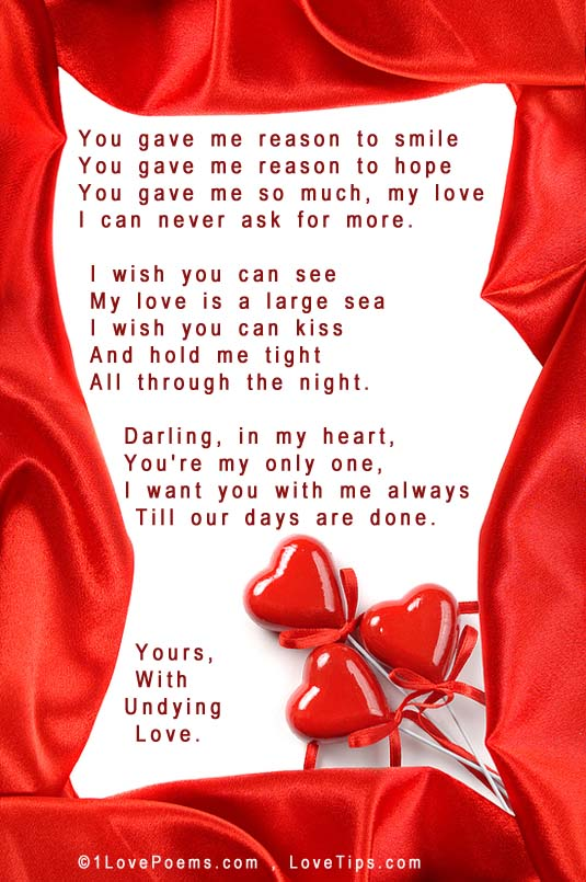 I for for the love him poems one 30 Love