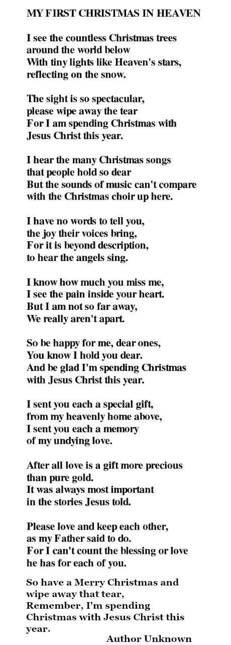It's just a photo of Merry Christmas From Heaven Poem Printable inside mom dad xma