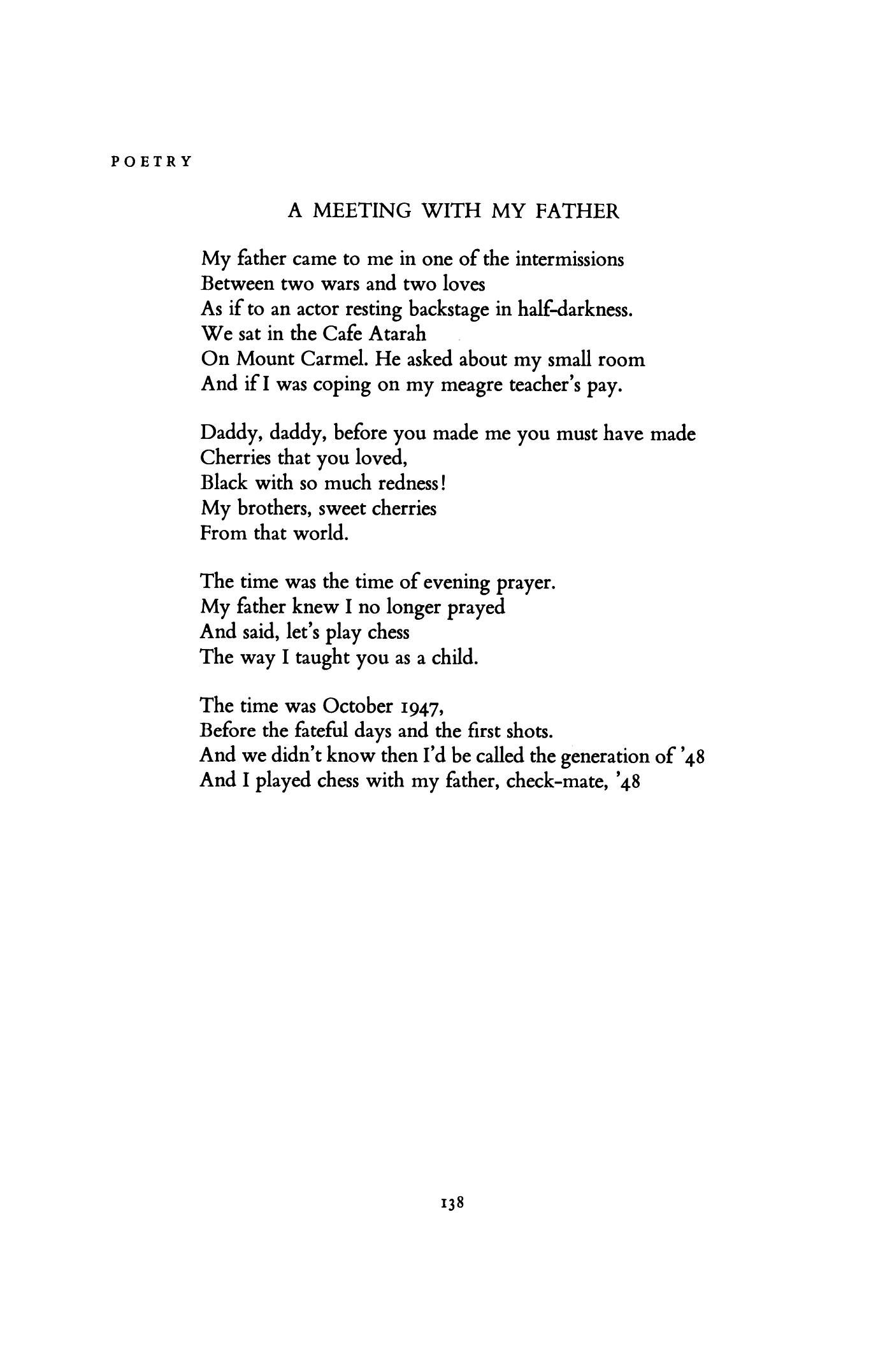 Poems about meeting someone for the first time