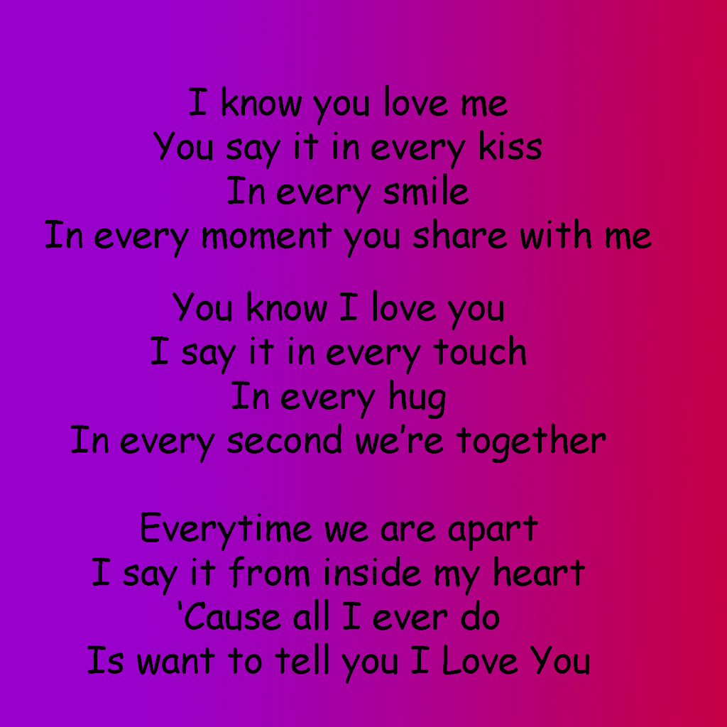 Love poems one i for for him the The One