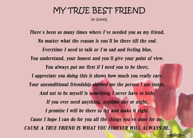 For your best poems friend girl 20 Romantic