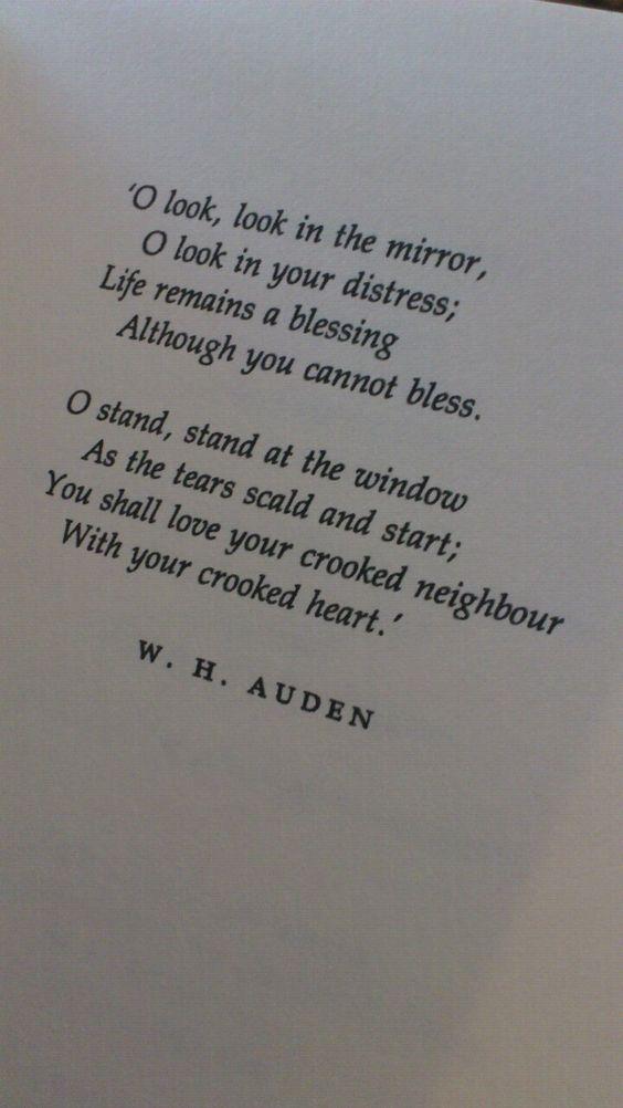 Wh auden love Poems