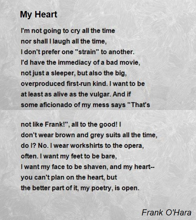 Poem with my you in heart You Are