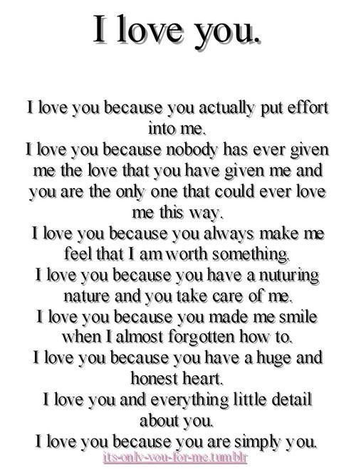 Love why poems i for him you 100 Best