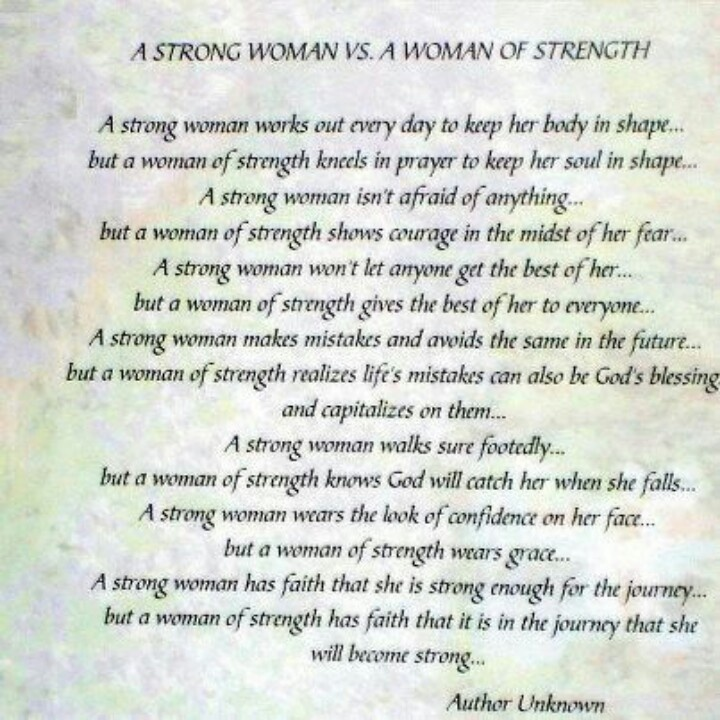 Strong woman poem