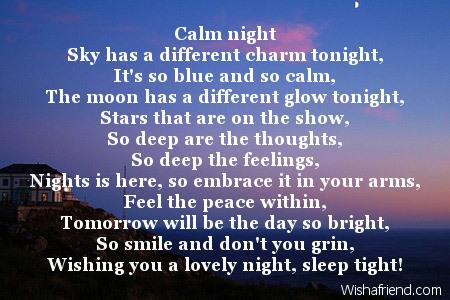 Lovers short goodnight poems for Good Night
