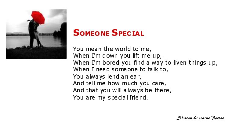 For a special someone.