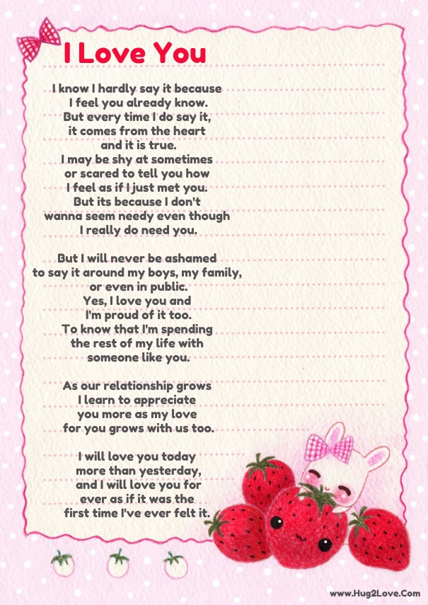 Poem for a girl you love