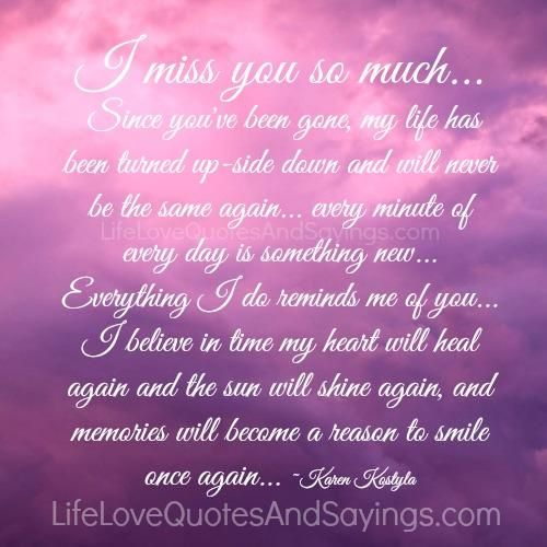 You and miss much you i so love i I Miss