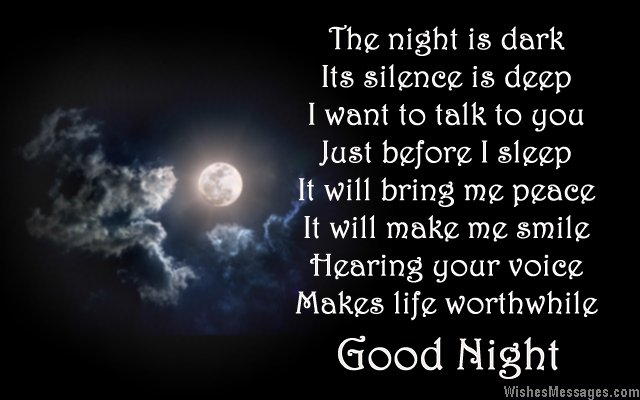 Good Night Love Poems