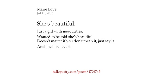 To is she poems beautiful say 96 You