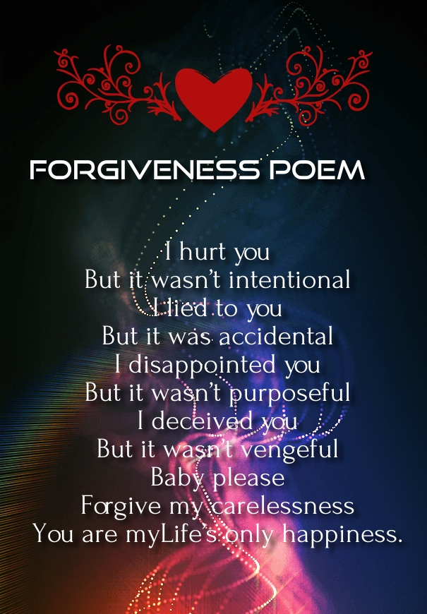 For you sorry poems her hurting for Apology Letters