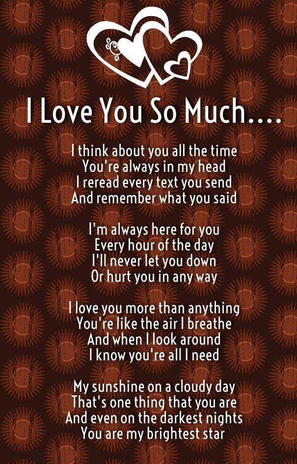 I like u poems why I Love