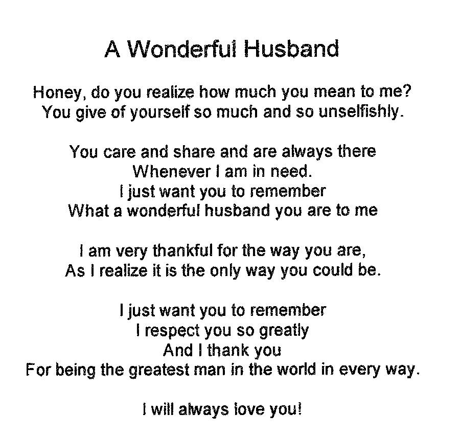 Poems i need for husband you Best Sex