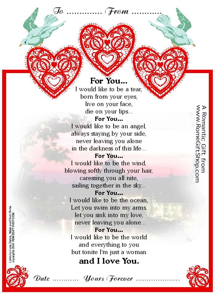 Most famous italian love poem