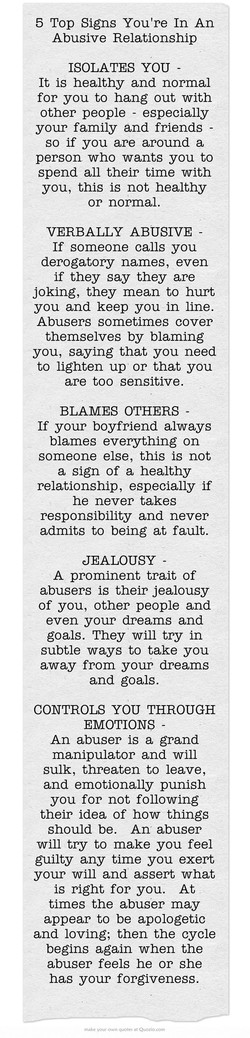 Of relationship an abusive getting about quotes out Abusive Relationship